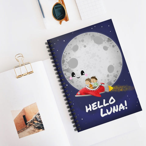 Hello Luna! Spiral Notebook - Ruled Line
