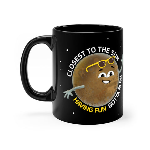 Mercury Having Fun Black Mug