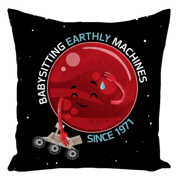Mars and Rovers Throw Pillow
