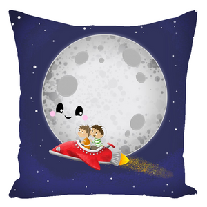 Hello Luna! Throw Pillow