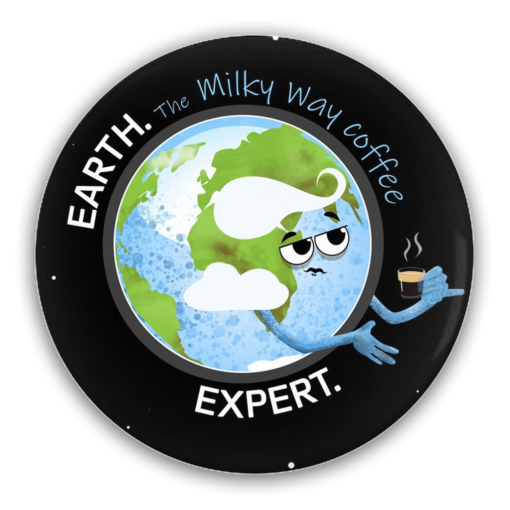 Earth Coffee Expert Pin-Back Buttons
