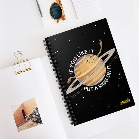 Saturn's Ring Spiral Notebook - Ruled Line