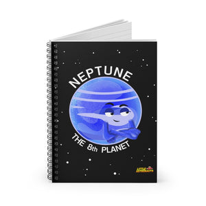 Planet Neptune Spiral Notebook - Ruled Line