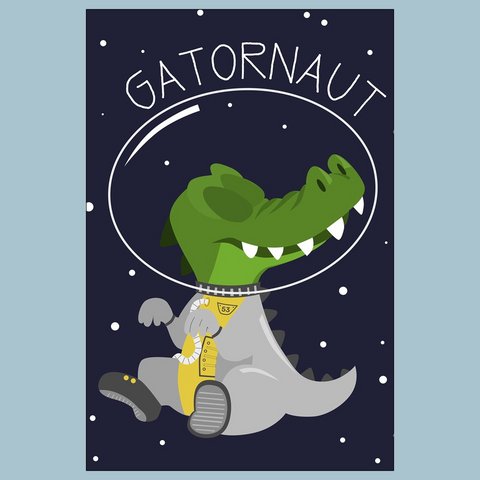 Gatornaut Flat Greeting Card
