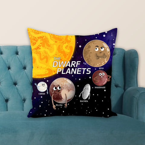 The Dwarf Planets Throw Pillow