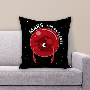 Planet Mars Throw Pillow