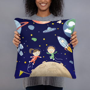 Space kids Astronauts Throw Pillows