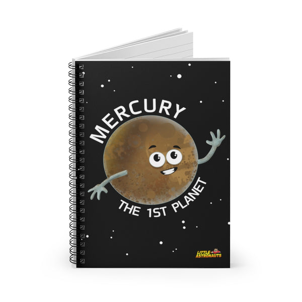 Planet Mercury Spiral Notebook - Ruled Line