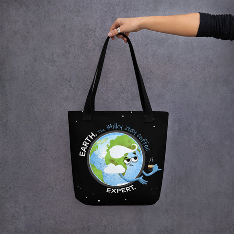 Earth Coffee Expert Tote Bag