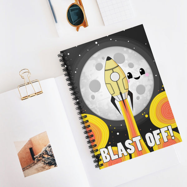 Moon Blast Off! Spiral Notebook - Ruled Line