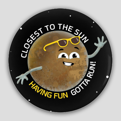 Mercury Having Fun Pin-Back Button