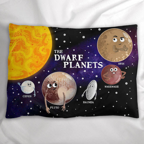 The Dwarf Planets Pillow Sham