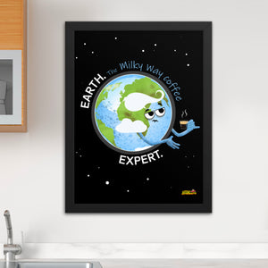 Earth Coffee Expert Framed poster