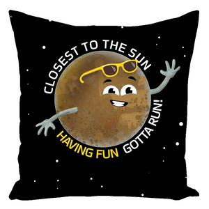 Mercury Having Fun Throw Pillow