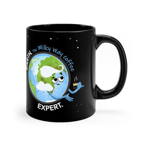 Earth Coffee Expert Black Mug