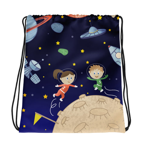 Kids in Space Drawstring bag - Krokoneil