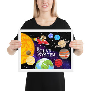 The Solar System Framed Poster