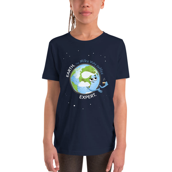 Earth Coffee Expert Youth T-Shirt