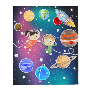 Happy Space Kids Throw Blanket