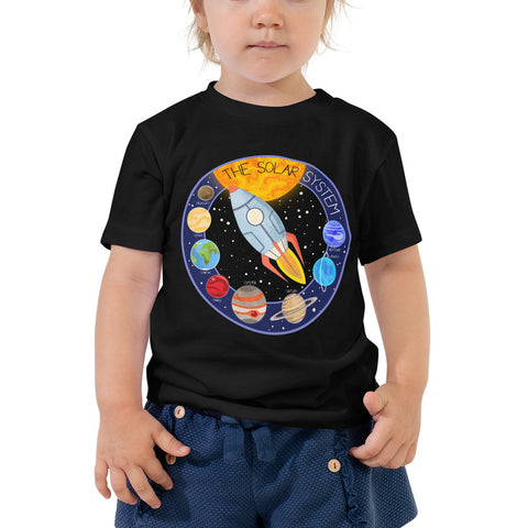 Solar System Patch 2-5T Toddler T-Shirt