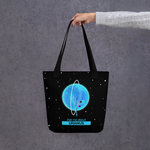Ask Me About Uranus Tote Bag