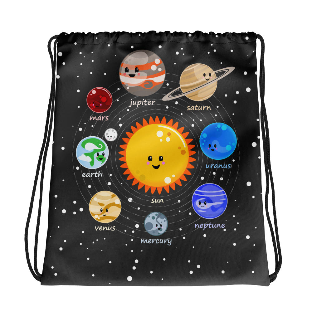 Kawaii Solar System Drawstring bag