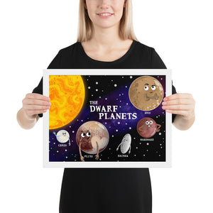 The Dwarf Planets Framed Poster