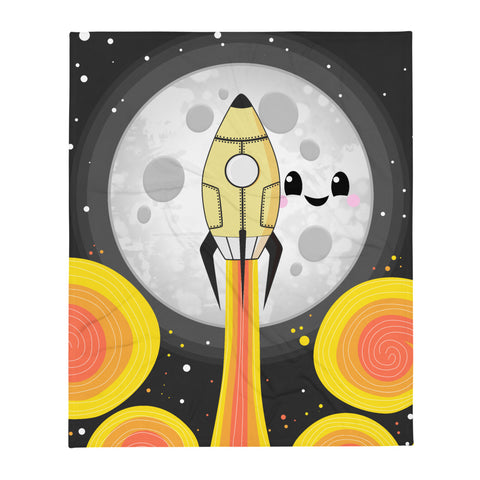 "Moon Blast Off 50""x60"" Throw Blanket"