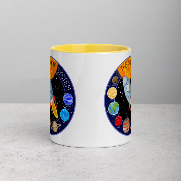 Solar System Patch Mug with Color Inside