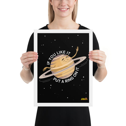 Saturn's Ring Framed Poster