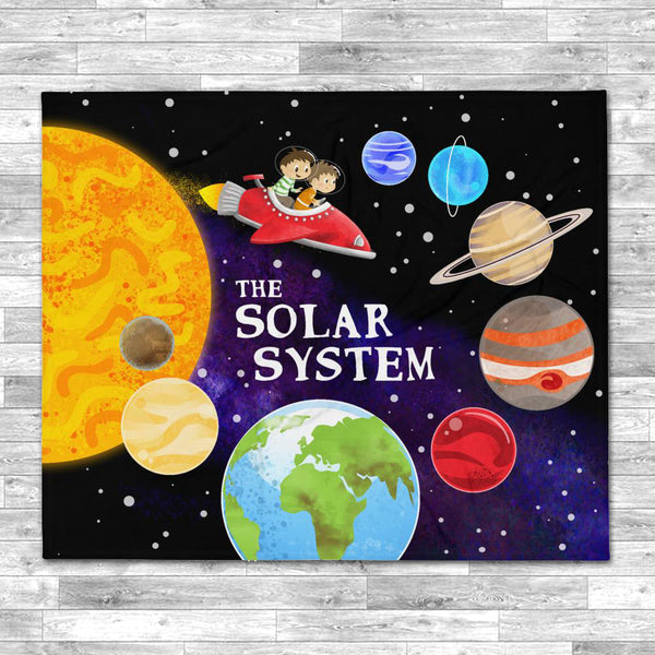 The Solar System 50x60 Throw Blanket