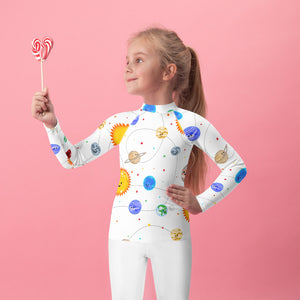 Solar System Pattern Kids Rash Guard