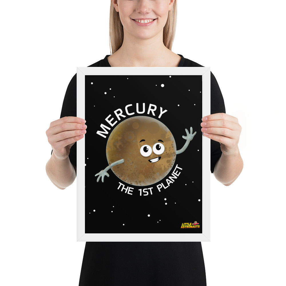 Planet Mercury Framed Poster