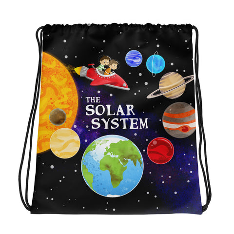 The Solar System Drawstring Bag