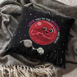 To the Moons & Back Throw Pillows