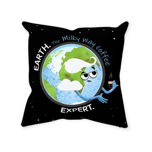 Earth Coffee Expert Throw Pillow