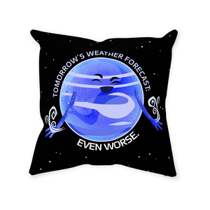 Neptune's Bad Weather Throw Pillow