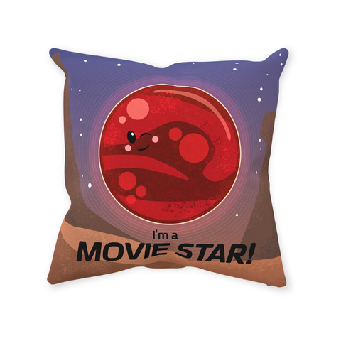 Mars Movie Star Throw Pillow