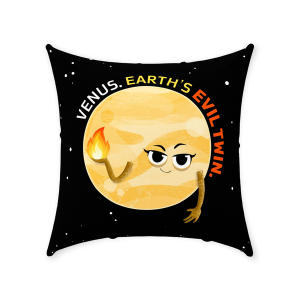 Venus the Evil Twin Throw Pillow