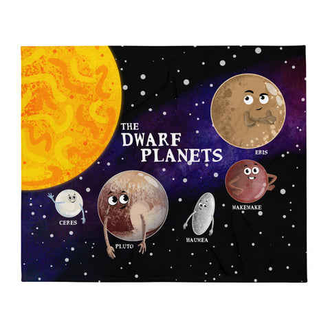 "The Dwarf Planets 50""x60"" Throw Blanket"