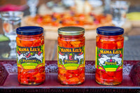 Mama Lil's Pickled Peppers and Fine Condiments  - Gourmet, Sweet, Hot and Mildly Spicy Pickled Peppers, Bread and Butter Pickle and Pepper Relish, Peppa Lilli Mustard, Pickled Asparagus and Green Beans For Sale Online.  Product of the USA