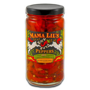 Mama Lil's Kick Butt Peppers in Oil (Spicy) - 12oz. 6-pack