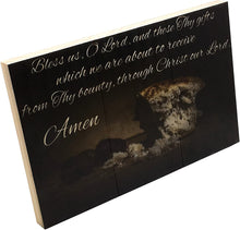 Deer Creek Products - Catholic Things Grace Before Meals, Bless us, O Lord Wooden Catholic Wall Decor