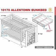 Allentown Twin Over Twin Bunk Bed Espresso Bunkway