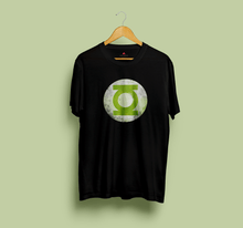 "Load image into Gallery viewer, "" GREEN LANTERN "" HALF-SLEEVE T-SHIRT (BLACK) - antherr"