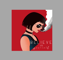 "Load image into Gallery viewer, ""BELIEVE IN YOURSELF"" HALF SLEEVE CROP TOP'S"