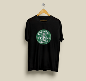 """CAFFEINE ADDICT"" - HALF-SLEEVE T-SHIRTS - ANTHERR"