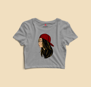 """ CHIN UP GIRLS "" - HALF-SLEEVE T-SHIRTS - antherr"
