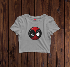 """ DEADPOOL ""- HALF-SLEEVE T-SHIRT (GREY) - antherr"