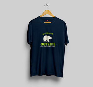 GO EXPLORE OUTSIDE- HALF-SLEEVE T-SHIRT - ANTHERR